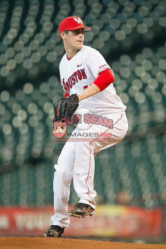 Starting pitcher Jared Ray #31 of the Houston Cougars in action against the Tennessee Volunteers at Minute Maid Park on March 2, 2012 in Houston, Texas.  The Cougars defeated the Volunteers 7-4.  (Brian Westerholt/Four Seam Images)