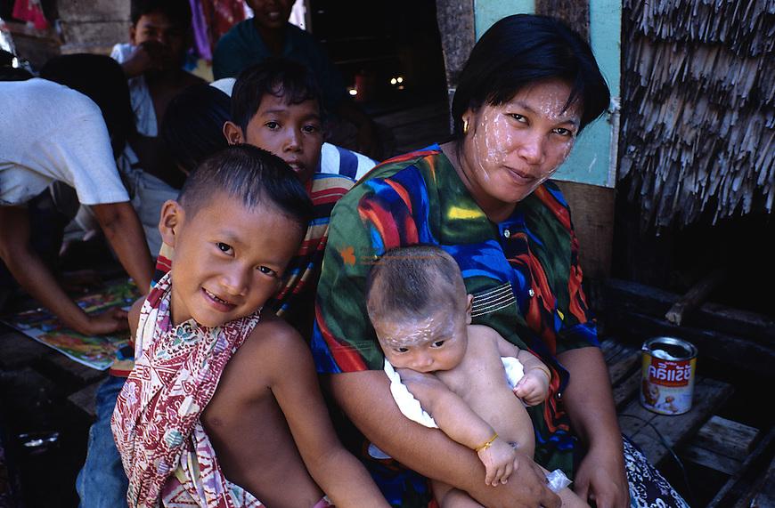 Portrait of Thai Family