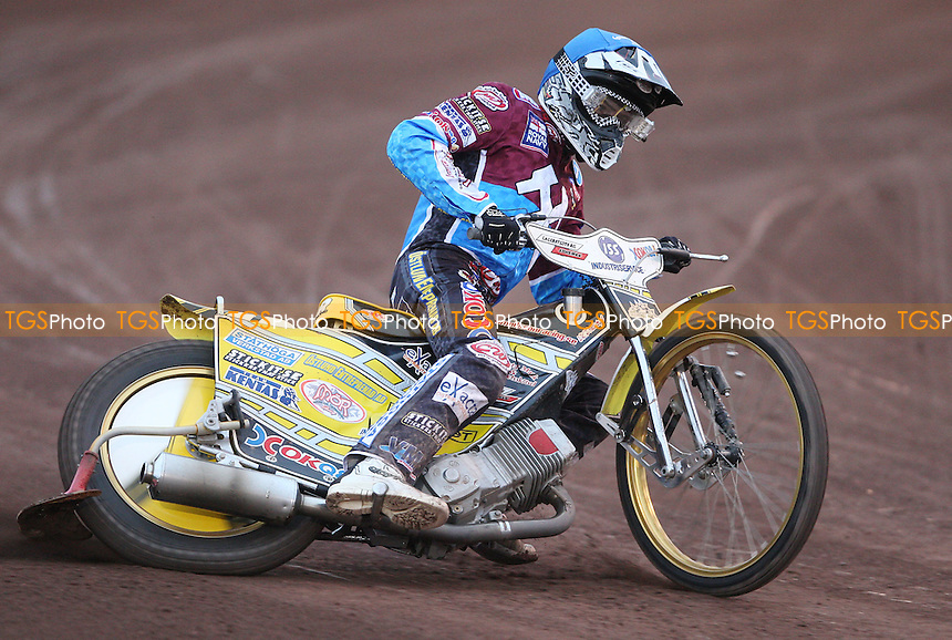 Kim Nilsson of Lakeside - Lakeside Hammers vs Peterborough Panthers, Elite League Speedway at the Arena Essex Raceway, Purfleet - 29/07/11 - MANDATORY CREDIT: Rob Newell/TGSPHOTO - Self billing applies where appropriate - 0845 094 6026 - contact@tgsphoto.co.uk - NO UNPAID USE.