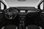 Stock photo of straight dashboard view of a 2018 Opel Crossland X Innovation 5 Door SUV