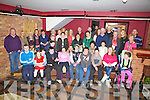 The Irish Pilgrimage Trust Group 135 (Lourdes Trip) Reunion was held at Pulse Night Club Cahersiveen on Sunday evening last pictured here front l-r; Ryan O'Sullivan, Sophie McKenna, Pauline O'Sullivan, Gerald O'Sullivan, Rebecca O'Brien, Devon Cadman, Micheal O'Connell, Daragh O'Shea, Charlotte O'Shea, Rose Griffin, missing from group Aoife Murray & Sinead O'Leary, back Carers, parents & Family.  Denis Daly back right is the group leader.