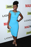 "HOLLYWOOD, LOS ANGELES, CA, USA - APRIL 02: Teyonah Parris at the Los Angeles Premiere Of AMC's ""Mad Men"" Season 7 held at ArcLight Cinemas on April 2, 2014 in Hollywood, Los Angeles, California, United States. (Photo by Xavier Collin/Celebrity Monitor)"