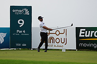 Lee Slattery (ENG) on the 9th during Round 1 of the Oman Open 2020 at the Al Mouj Golf Club, Muscat, Oman . 27/02/2020<br /> Picture: Golffile   Thos Caffrey<br /> <br /> <br /> All photo usage must carry mandatory copyright credit (© Golffile   Thos Caffrey)