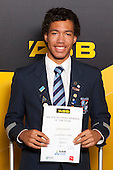 Athletics Boys winner Joshua Hawkins from Sacred Heart College. ASB College Sport Young Sportsperson of the Year Awards held at Eden Park, Auckland, on November 24th 2011.