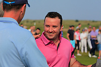 Paul O'Hanlon (Carton House) on the 18th green after winning the East of Ireland Amateur Open Championship sponsored by City North Hotel at Co. Louth Golf club in Baltray on Monday 6th June 2016.<br /> Photo by: Golffile   Thos Caffrey