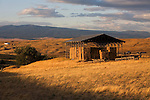 Hay shed on the Dalles Mountain near Goldendale, WA.  September 2006.Looking North.  Klickitat County, eastern Washington