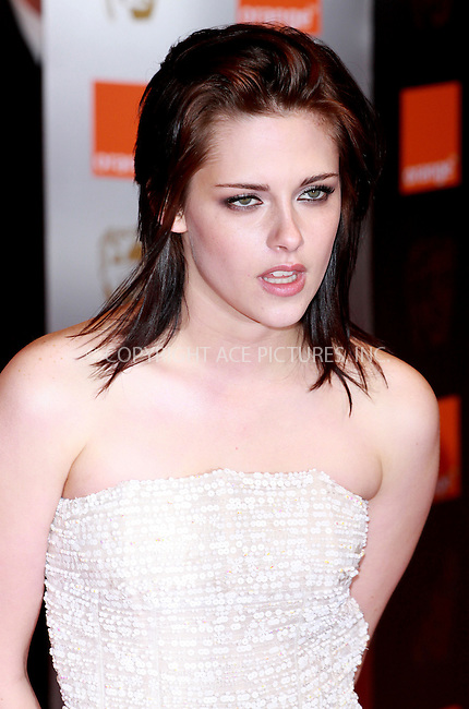 WWW.ACEPIXS.COM . . . . .  ..... . . . . US SALES ONLY . . . . .....February 21 2010, London....Kristen Stewart at the Orange British Academy Film Awards (BAFTA's) on February 21 2010 in London......Please byline: FAMOUS-ACE PICTURES... . . . .  ....Ace Pictures, Inc:  ..tel: (212) 243 8787 or (646) 769 0430..e-mail: info@acepixs.com..web: http://www.acepixs.com