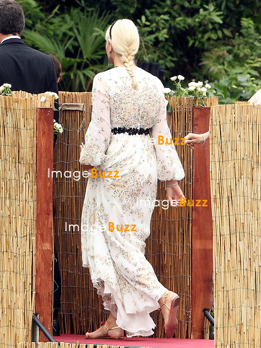 Arrival of the guests of the marriage of Pierre and B&eacute;atrice<br /> <br /> Princesse Mette-Marit de Norvege