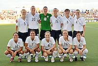USA starting XI..USWNT tied Sweden 1-1 at Morison Stadium, Nebraska.