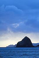 Azorella Peninsula at dawn, Heard Island, Antarctica