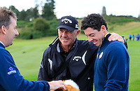 Rory McIlroy Europe and Pete Cowan on the range Tuesday's Practice Day ahead of the 2014 Ryder Cup at Gleneagles. The 40th Ryder Cup is being played over the PGA Centenary Course at The Gleneagles Hotel, Perthshire from 26th to 28th September 2014.: Picture Eoin Clarke, www.golffile.ie: 23-Sep-14