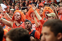 Virginia fans react to call during an NCAA basketball game Saturday March 1, 2014 in Charlottesville, VA. Virginia defeated Syracuse 75-56.