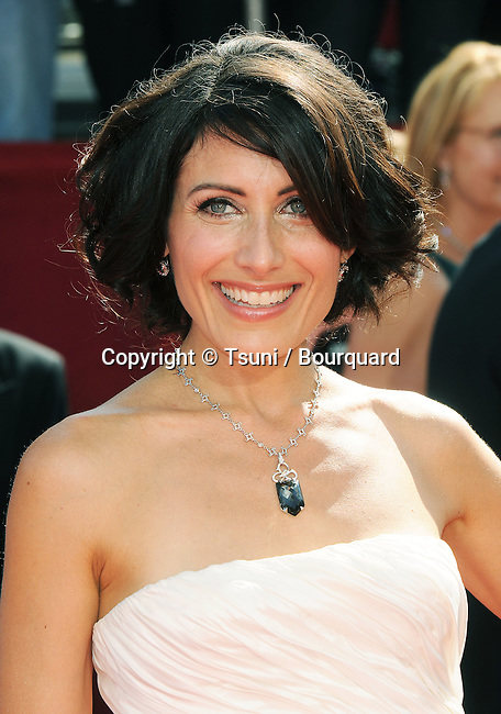 Lisa Edelstein    - <br /> 60th Annual Emmys Awards at the Nokia Theatre in Los Angeles<br /> <br /> headshot<br /> eye contact<br /> smile