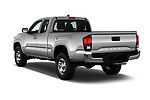 Car pictures of rear three quarter view of a 2018 Toyota Tacoma SR5 Access Cab 4 Door Pick Up angular rear