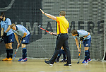 Almere - Zaalhockey  SCHC-Laren  . scheidsrechter Steven Bakker.    TopsportCentrum Almere.    COPYRIGHT KOEN SUYK