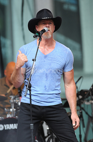 New York,NY-August 1: Trace Adkins performs on Fox & Friends' All-American Concert Series in New York on August 1, 2014 . Credit: John Palmer/MediaPunch