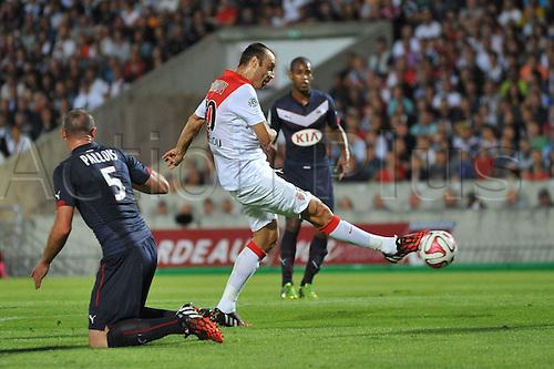 17.08.2014. Bordeaux, France. French League 1 football. Bordeaux versus Monaco.  DIMITAR BERBATOV with the shot on goal