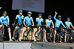 Astana Pro Team at sign on before the 2019 E3 Harelbeke Binck Bank Classic 2019 running 203.9km from Harelbeke to Harelbeke, Belgium. 29th March 2019.<br /> Picture: Eoin Clarke | Cyclefile<br /> <br /> All photos usage must carry mandatory copyright credit (© Cyclefile | Eoin Clarke)