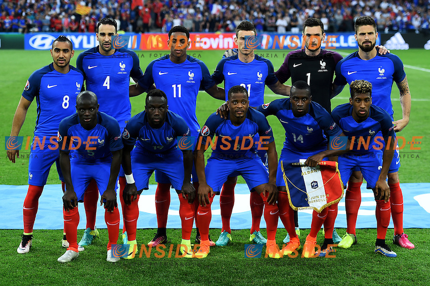Formazione Francia France Team Line Up <br /> Marseille 15-06-2016 Stade du Velodrome <br /> Football Euro2016 France - Albania / Francia - Albania Group Stage Group A<br /> Foto Massimo Insabato / Insidefoto