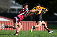 Cassandra Tautari of Papakura looks to tackle. Premier Women's Rugby League, Papakura Sisters v Manurewa Wahine, Prince Edward Park, Auckland, Sunday 13th August 2017. Photo: Simon Watts / www.phototek.nz