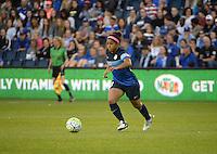 Kansas City, Kansas - Saturday April 16, 2016: FC Kansas City defender Desiree Scott (3) in action against Western New York Flash at Children's Mercy Park. Western New York won 1-0.