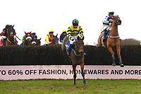 Findusatgorcombe ridden by Bryony Frost in The Weatherbys Racing Bank Silver Buck Handicap Chase during Horse Racing at Wincanton Racecourse on 5th December 2019