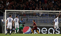 Football Soccer: UEFA Champions League  AS Roma vs PFC CSKA Mosca Stadio Olimpico Rome, Italy, October 23, 2018. <br /> Roma's Edin Dzeko celebrates after scoring during the Uefa Champions League football soccer match between AS Roma and PFC CSKA Mosca at Rome's Olympic stadium, October 23, 2018.<br /> UPDATE IMAGES PRESS/Isabella Bonotto
