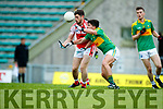 Conor O'Shea South Kerry in action against Paul Geaney Dingle in the Quarter Final of the Kerry Senior County Championship at Austin Stack Park on Sunday.