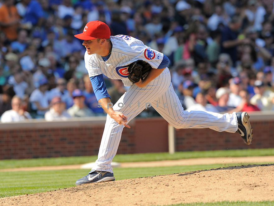RICH HARDEN, of the Chicago Cubs, in action during the Cubs  game against the Cincinnati Reds on August 11, 2009 in Chicago, IL. The Cubs beat the Reds 6-4 ...