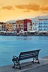 Chania at dusk, Crete, Greece