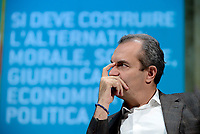 Roma, 1 Dicembre 2018<br /> Il Sindaco di Napoli Luigi De Magistris  lancia a Roma nel Teatro Italia &quot;Oltre le disuguaglianze&quot; , una nuova coalizione dei Popoli