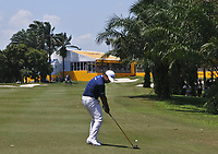 Shubhankar Sharma (IND) on the 18th fairway on his way to winning the Maybank Championship at the Saujana Golf and Country Club in Kuala Lumpur on Saturday 4th February 2018.<br /> Picture:  Thos Caffrey / www.golffile.ie<br /> <br /> All photo usage must carry mandatory copyright credit (© Golffile | Thos Caffrey)