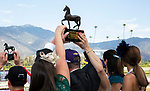 November 2, 2019: Connections for Spun to Run, winner of the Big Ass Fans Breeders' Cup Dirt Mile on Breeders' Cup World Championship Saturday at Santa Anita Park on November 2, 2019: in Arcadia, California. Bill Denver/Eclipse Sportswire/CSM