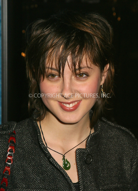 Susan Sarandon's daughter Eva at the World Premiere of The Lord of the Rings: The Two Towers. New York, December 5, 2002...Please byline: Alecsey Boldeskul/NY Photo Press.   ..*PAY-PER-USE*      ....NY Photo Press:  ..phone (646) 267-6913;   ..e-mail: info@nyphotopress.com