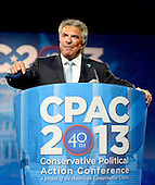 Al Cardenas, Chairman, American Conservative Union Introduces United States Senator Tim Scott (Republican of South Carolina) who will make remarks at CPAC 2013 At the Gaylord National Resort & Convention Center in National Harbor, Maryland on Thursday, March 14, 2013..Credit: Ron Sachs / CNP
