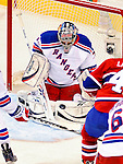 23 January 2010: New York Rangers' goaltender Matt Zaba makes a second period save against the Montreal Canadiens at the Bell Centre in Montreal, Quebec, Canada. The Canadiens shut out the Rangers 6-0. Mandatory Credit: Ed Wolfstein Photo