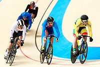 Picture by Alex Whitehead/SWpix.com - 09/12/2017 - Cycling - UCI Track Cycling World Cup Santiago - Velódromo de Peñalolén, Santiago, Chile - Lithuania's Vasilijus Lendel wins in the Men's Keirin first round.