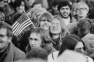 15 Nov 1969, Washington, DC, USA --- Protestors of the Vietnam War marching in the Peace Moratorium on Constitution Avenue in Washington, DC on November 15, 1969. The Peace Moratorium 2nd is believed to have been the largest demonstration in US history with an estimated 20 to 30 million people involved. --- Image by © JP Laffont
