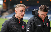 Fleetwood Town's Kyle Dempsey and Wes Burns arriving at the ground<br /> <br /> Photographer Andrew Kearns/CameraSport<br /> <br /> The EFL Sky Bet League One - Luton Town v Fleetwood Town - Saturday 8th December 2018 - Kenilworth Road - Luton<br /> <br /> World Copyright &copy; 2018 CameraSport. All rights reserved. 43 Linden Ave. Countesthorpe. Leicester. England. LE8 5PG - Tel: +44 (0) 116 277 4147 - admin@camerasport.com - www.camerasport.com