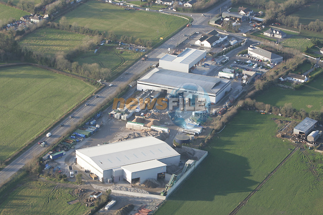 Aerial Pictures showing the Panda Waste recycling Facility at Beaupark in Co Meath..Photo: Fran Caffrey/ Newsfile.