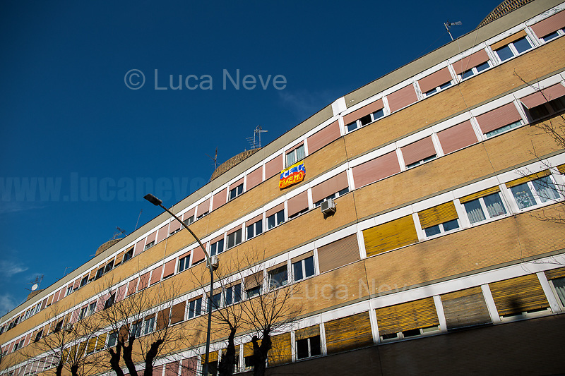 We will make it.<br /> <br /> Rome, 18/03/20. Rome's Olympic Village district under the Italian Government lockdown for the Outbreak of the Coronavirus SARS-CoV-2 - COVID-19. On 22 March, the Italian PM Giuseppe Conte signed a new Decree Law which suspends non-essential industry productions and contains the list of allowed working activities, which includes Pharmaceutical & food Industry, oil & gas extraction, clothes & fabric, tobacco, transports, postal & banking services (timetables & number of agencies reduced), delivery, security, hotels, communication & info services, architecture & engineer, IT manufacturers & shops, call centers, domestic personnel (1.).<br /> Updates: Italy: 22.03.20, 6:00PM: 46.638 positive cases; 7.024 recovered; 5.476 died.<br /> <br /> The Rome's Olympic Village (1957-1960) was designed by: V. Cafiero, A. Libera, A. Luccichenti, V. Monaco, L. Moretti. «Built to host the approximately 8,000 athletes involved in the 1960 Olympic Games, Rome's Olympic Village is a residential complex located between Via Flaminia, the slopes of Villa Glori and Monti Parioli. It was converted into public housing [6500 inhabitants, ndr] at the end of the sporting event. The intervention is an example of organic settlement, characterized by a strong formal homogeneity, consistent with the Modern Movement's principles of urbanism. The different architectural structures are made uniform by the use of some common elements: the pilotis, ribbon windows, concrete stringcourses, and yellow brick curtain covering. At the center of the neighborhood, the Corso Francia viaduct - a road bridge about one kilometer long - was built by P.L. Nervi[…]» (2.).<br /> <br /> Info COVID-19 in Italy: http://bit.do/fzRVu (ITA) - http://bit.do/fzRV5 (ENG)<br /> 1. March 22nd Decree Law http://bit.do/fFwJn (ITA)<br /> 2. (Atlantearchitetture.beniculturali.it MiBACT, ITA - ENG) http://bit.do/fFw3H<br /> 12.03.20 Rome's Lockdown for the Outbreak of the Coronavirus SARS-CoV-2 - COVID-19 h
