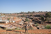 """""""My tour is not about living in a slum, it's about the people, it's about them being alive, they have a life, they are not sick. We have talent, we have people working hard,"""" said Kenyan hip-hop artist Octopizzo  on one of his """"Chocolate City"""" tours of Kibera."""