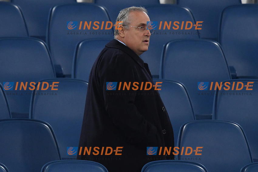 Claudio Lotito <br /> Roma 12-10-2016 Stadio Olimpico <br /> Incontro di calcio benefico Uniti per la Pace <br /> Charity football match United for Peace . Foto Andrea Staccioli / Insidefoto