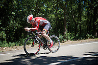 André Greipel (DEU/Lotto-Soudal) on course<br /> <br /> stage 13 (ITT): Bourg-Saint-Andeol - Le Caverne de Pont (37.5km)<br /> 103rd Tour de France 2016