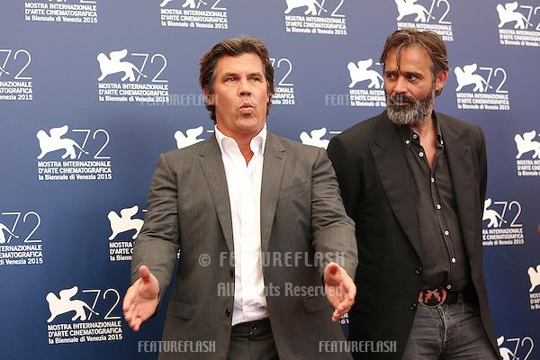 Balthasar Kormakur & Josh Brolin at the photocall for Everest at the 2015 Venice Film Festival.<br /> September 02, 2015  Venice, Italy<br /> Picture: Kristina Afanasyeva / Featureflash