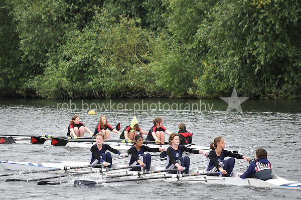 Thames Valley Park Regatta, Reading, Berkshire. 19.06.2011.WJ13 4X+.188 Sir Wm. Perkins's School B.C..189 Great Marlow School B.C..190 Henley R.C.
