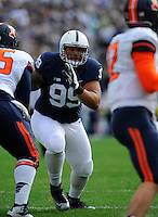 31 October 2015:   Penn State DT Austin Johnson (99)  rushes the quarterback. The Penn State Nittany Lions defeated the Illinois Fighting Illini 39-0 at Beaver Stadium in State College, PA. (Photo by Randy Litzinger/Icon Sportswire)