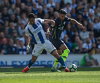 Brighton & Hove Albion's Beram Kayal (left)  battles with Manchester City's Riyad Mahrez (right) <br /> <br /> Photographer David Horton/CameraSport<br /> <br /> The Premier League - Brighton and Hove Albion v Manchester City - Sunday 12th May 2019 - The Amex Stadium - Brighton<br /> <br /> World Copyright © 2019 CameraSport. All rights reserved. 43 Linden Ave. Countesthorpe. Leicester. England. LE8 5PG - Tel: +44 (0) 116 277 4147 - admin@camerasport.com - www.camerasport.com