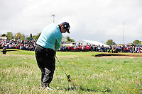 Shane Lowry plays his 2nd shot from the rough on the 9th hole during the Final Round of the 3 Irish Open on 17th May 2009 (Photo by Eoin Clarke/GOLFFILE)