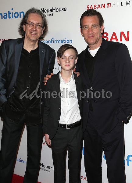 "15 March 2016 - Hollywood, California - Bob Nelson, Jaeden Lieberher, Clive Owen. ""The Confirmation"" Los Angeles Premiere held at NeueHouse Hollywood. Photo Credit: Sammi/AdMedia"